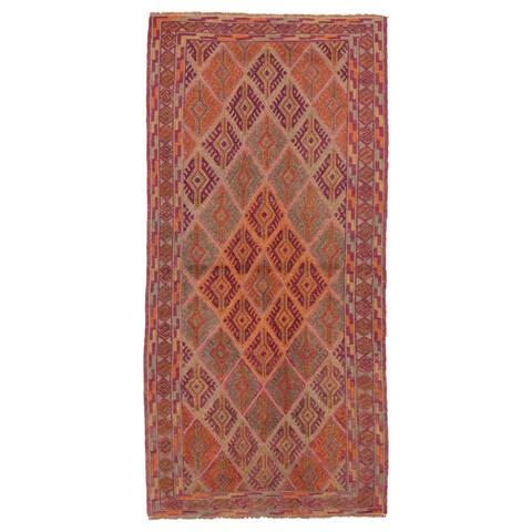 ECARPETGALLERY Hand-knotted Tajik Caucasian Teal Wool Rug - 3'1 x 6'4