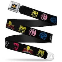Power Rangers Logo Full Color Power Ranger Animal Logos Mighty Morphin Seatbelt Belt