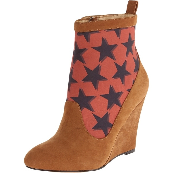 Vivienne Westwood NEW Brown Women Shoes 8M Hazel Star Wedge Boot