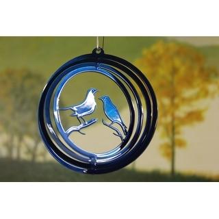 "4"" Blue Lovebird Wind Spinner"