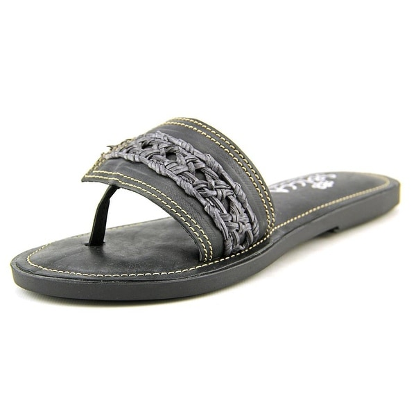 Sbicca Cardiff   Open Toe Leather  Slides Sandal
