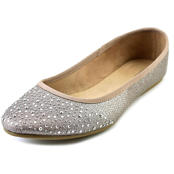 Style & Co Angelynn Women Round Toe Synthetic Silver Flats