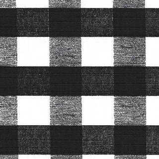 """1"""" Check - Chess Check Black - Deluxe Flannel Back Tablecloth Vinyl 4 Gauge 54"""" 15Yd Rot"""