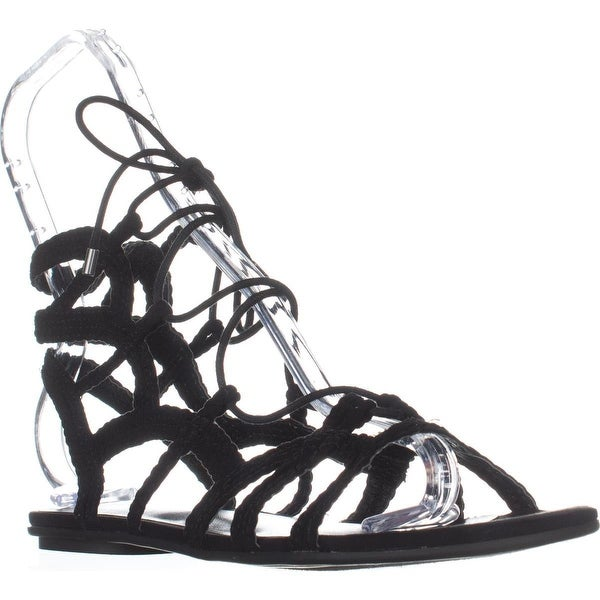 Indigo Rd. Laura Flat Gladiator Sandals, Black