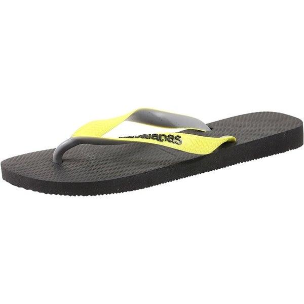 Havaianas Women's Top Mix Sandal Black/Neon Yellow