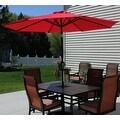 Sunnydaze Aluminum 9 Foot Solar Patio Umbrella with Tilt & Crank - Thumbnail 4