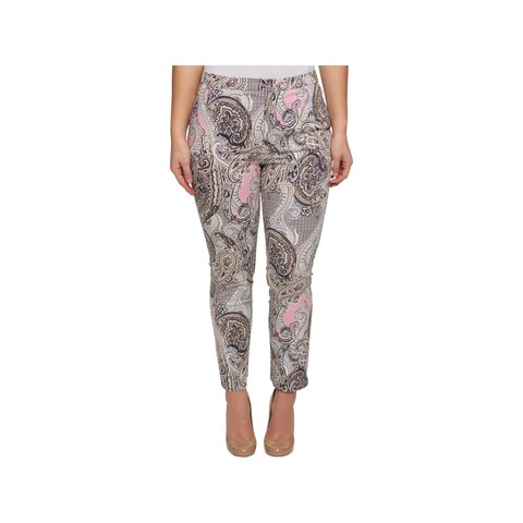 Tommy Hilfiger Womens Plus Casual Pants Printed Cropped