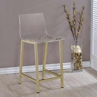 Link to Silver Orchid Svendsen Clear Acrylic Counter Stool (Set of 2) Similar Items in Dining Room & Bar Furniture