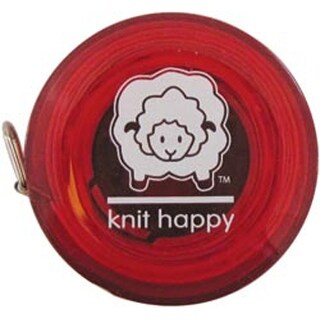 """Red - Knit Happy Tape Measure 60"""""""
