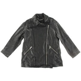 Marc by Marc Jacobs Womens Leather Asymmetric Motorcycle Jacket - S