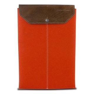 "Graf & Lantz Felt Sleeve with Leather Flap for 11"" MacBook Air - Orange"