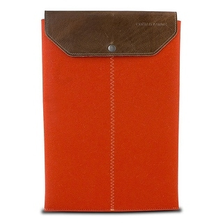 "Graf & Lantz Felt Sleeve with Leather Flap for 13"" MacBook Air -  Orange"