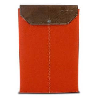 "Graf & Lantz Felt Sleeve with Leather Flap for 13"" MacBook Air - Orange|https://ak1.ostkcdn.com/images/products/is/images/direct/8448fbe568b4e71cb7d4c5de06641c02002243db/Graf-%26-Lantz-Felt-Sleeve-with-Leather-Flap-for-13%22-MacBook-Air---Orange.jpg?impolicy=medium"