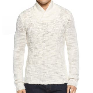 Calvin Klein NEW White Ivory Mens XL Cable Knit Shawl Collar Sweater|https://ak1.ostkcdn.com/images/products/is/images/direct/84493924177021112d440b5f275e3867b2f11265/Calvin-Klein-NEW-White-Ivory-Mens-XL-Cable-Knit-Shawl-Collar-Sweater.jpg?impolicy=medium