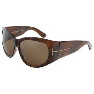 Tom Ford FT0404/S 48B Felicity Tortoise Rectangle Sunglasses