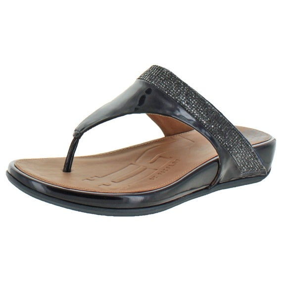 64bccfbaab65 Shop FitFlop Women s Banda Micro Crystal Toe Post Sandals - Free Shipping  Today - Overstock - 17167891