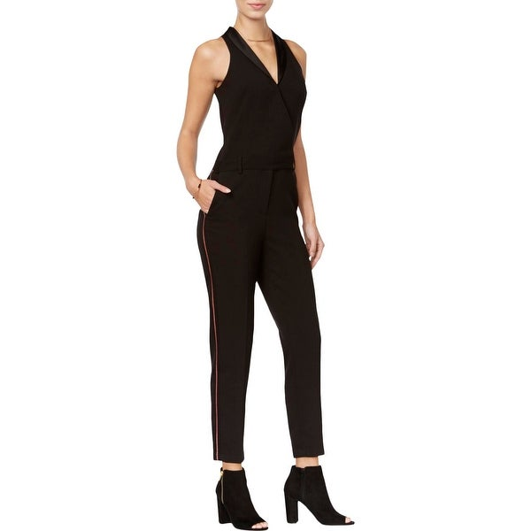 50e05e5f8c91 Shop Armani Exchange Womens Jumpsuit Metallic Side Stripe - 2 - Free  Shipping Today - Overstock - 20931818