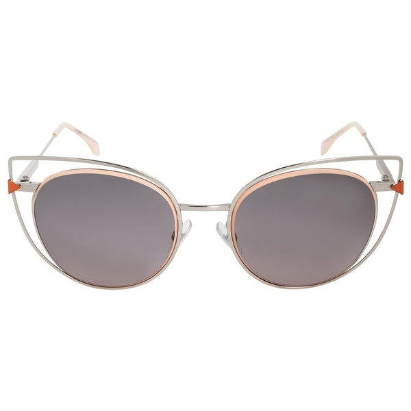 20b01750a7e66 Shop Fendi Cat Eye Sunglasses FF0176S 010 EU 53 - Free Shipping ...