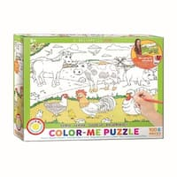 Color Me Farm 100 Piece Puzzle, 100 Piece Puzzles by Eurographics