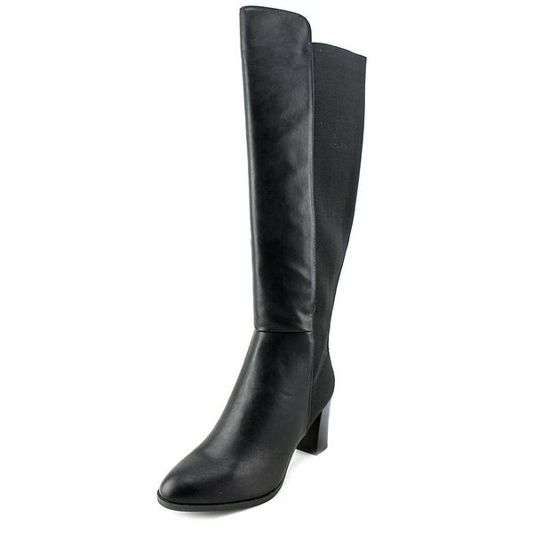 Ann Marino by Bettye Muller Must Be Hot Women Canvas Black Knee High Boot