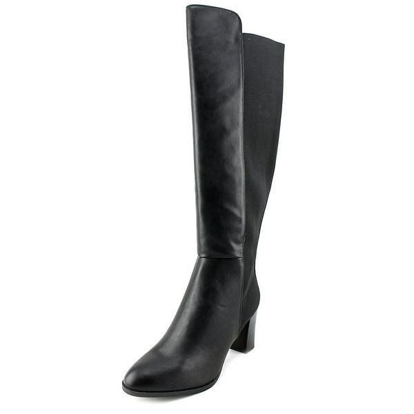 Ann Marino by Bettye Muller Must Be Hot Women Canvas Black Knee High Boot