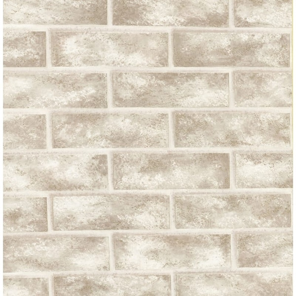 Brewster 412-56947 Urbania 56 Square Foot Brick Imitating Expanded Vinyl Wallpaper - One Roll - N/A