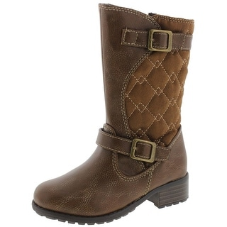 Rachel Shoes Girls Lil Odessa Riding Boots Toddler Quilted - 8 medium (b,m)