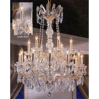 Swarovski Elements Crystal Trimmed Maria Theresa Chandelier Lighting