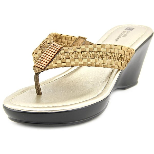 White Mountain Wishlist Women Bronze Sandals