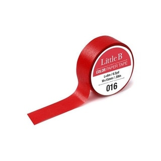 Little B Paper Tape 15mm Red 016