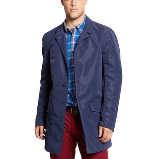 Tommy Hilfiger Brandeis Packable Waterproof Wind Block Coat Small Blue Overcoat