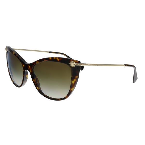 623fccde7dc Versace VE4345B 108 6U Havana Cat Eye Sunglasses - No Size. Click to Zoom