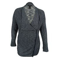 INC International Concepts Women's Zip-Front Cardigan - vendor blue