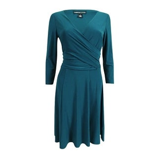 American Living Women's Ruched Jersey Dress - honor teal