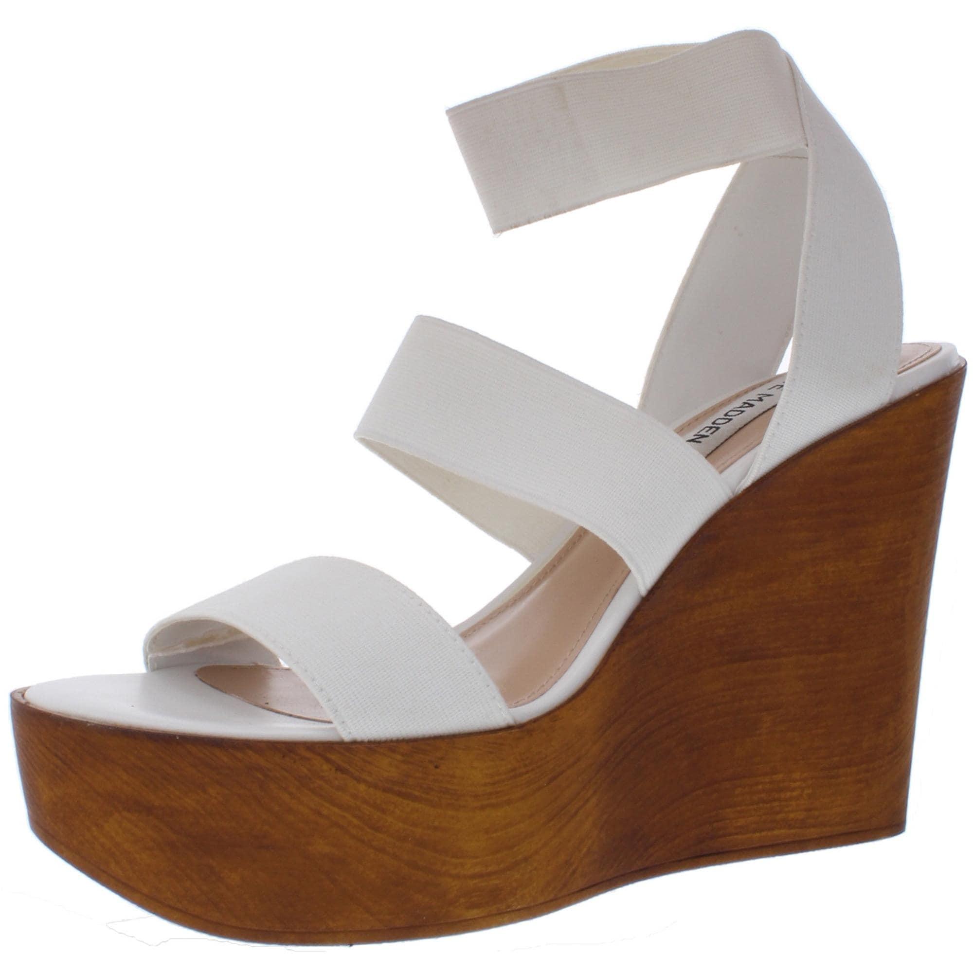 obispo pobreza papel  Steve Madden Womens Blondy Wedge Sandals Platform Wood - Overstock -  27592815
