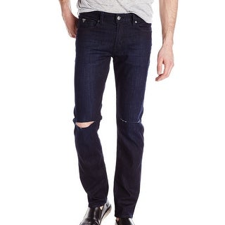Guess NEW Smokescreen Blue Mens Size 30x33 Distressed Straight Leg Jeans