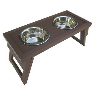 New Age Pet - Ehhf203m - Dog Bowl Double Raised Med Rus
