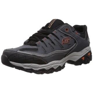 skechers memory foam mens. skechers sport men\u0027s afterburn memory foam lace-up sneaker,charcoal mens 1