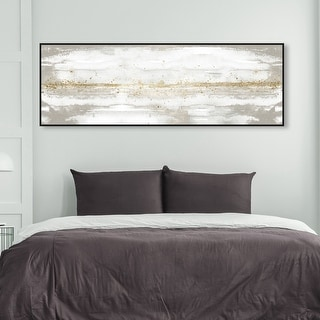 Link to Oliver Gal 'Dancing with the Sun' Abstract Wall Art Framed Canvas Print Paint - White, Gray Similar Items in Canvas Art