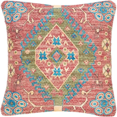 The Curated Nomad Powers Vintage Medallion 18-inch Throw Pillow Cover
