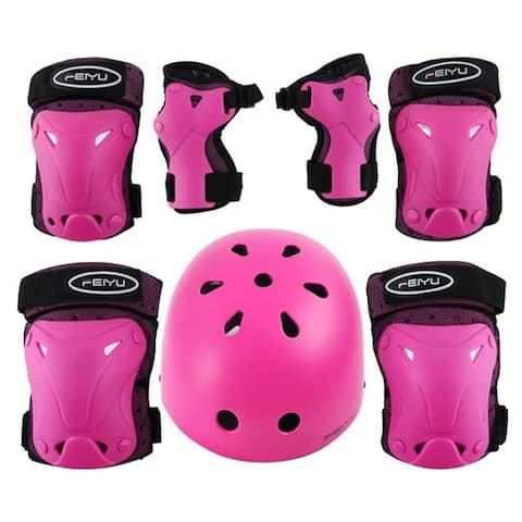Children's Day NewAge Cycling & Biking & Skating Helmets for Kids Youth Adjustable Sports Protective Gear Set