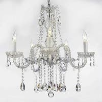 Swarovski Elements Crystal Trimmed Authentic Plug In Chandelier Lighting