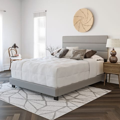 Sleep Sync Ferrara Tri Panel Upholstered Faux Leather Bed Frame