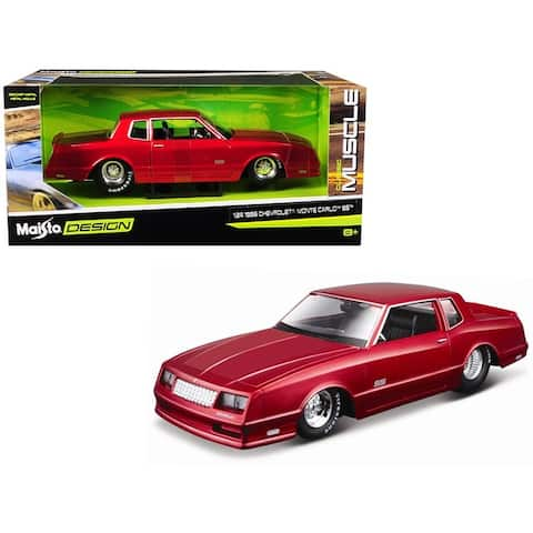 1986 Chevrolet Monte Carlo SS Candy Red Classic Muscle 1/24 Diecast Model Car by Maisto