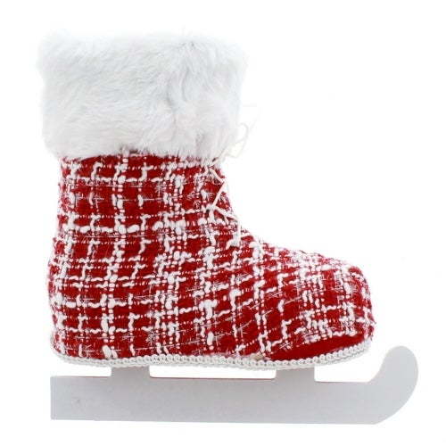Red and White Knit Skate