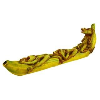 No Evil Monkeys Banana Stick Incense Burner Holder