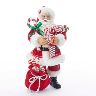 """Link to Kurt Adler 10.5-Inch Fabriché™ Santa With Christmas Candy and Bag - 10.5"""" Similar Items in Christmas Decorations"""