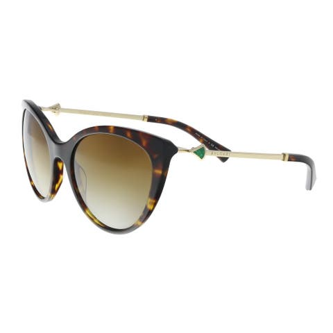 Bulgari BV8195KB 5193T5 Dark Havana Cat eye Sunglasses - 56-19-130