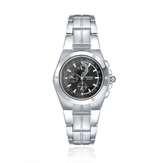 Modern 18K White Gold Plated Onyx Automatic Watch - Silver