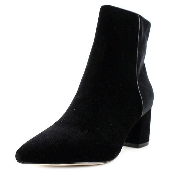 Steven Steve Madden Bollie Women Pointed Toe Canvas Black Bootie